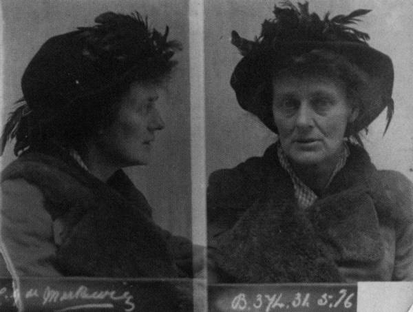 Lieutenant Markievicz after her arrest in 1916. Courtesy of University College Cork Multitext Project.