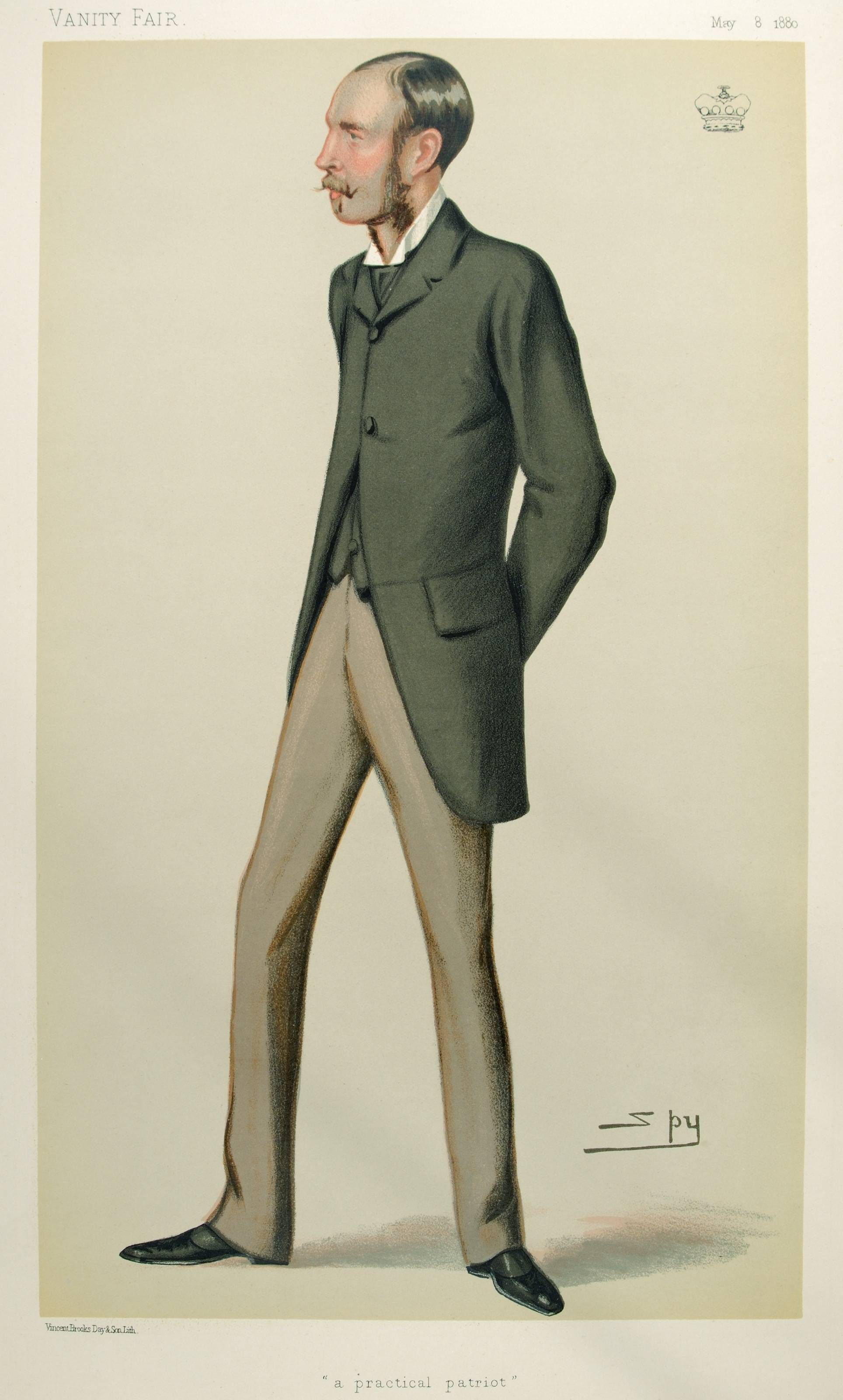 A caricature of the Baron published in Vanity Fair in 1880. Public domain.