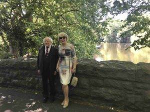 President Higgins and Mrs Higgins 02/07/2018 on their visit to the Erasmus Exhibition